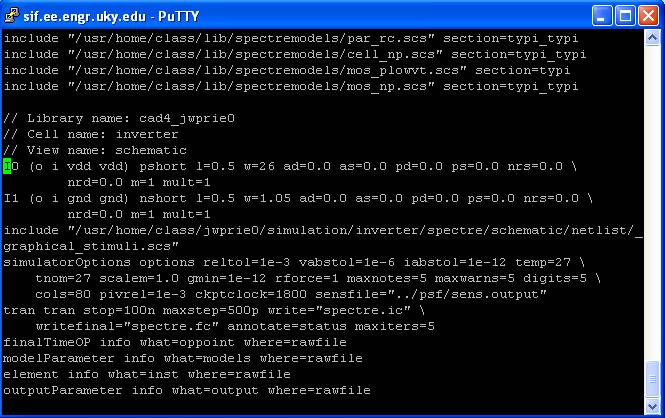 Using Spectre From the Command Line